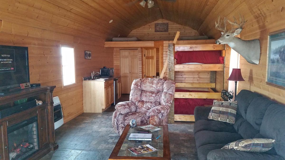 Deer Hunting Cabin Interior